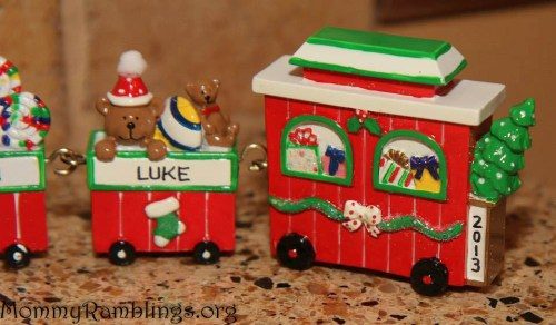 Oranments With Love Train Luke