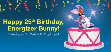 Energizer Bunny 25th Birthday #BunnyBirthdayWMT  #shop #cbias