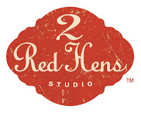 2 red hens logo