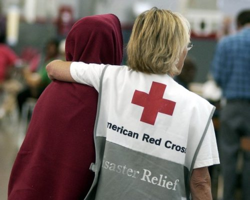 American Red Cross Helping Victims