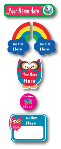 Lovable Labels Owl Happy Flappy Daycare pack.