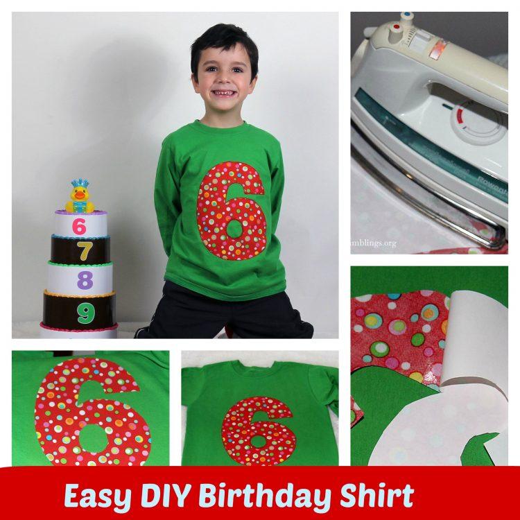 How To Make An Adorable Applique Birthday Shirt
