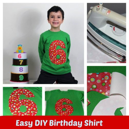 DIY Birthday Shirt Collage