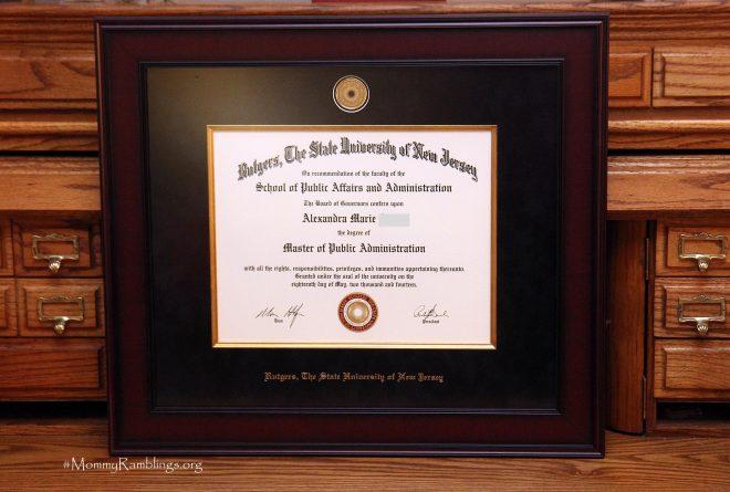 Diploma Frame Archives • Mommy Ramblings