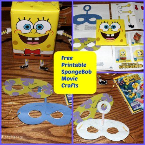 Spongebob the movie printable pinterest crafts