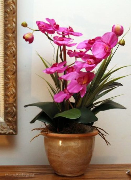 orchid-silk-flowers