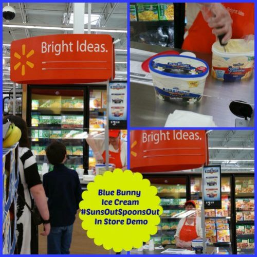 walmart blue  bunny in store demo