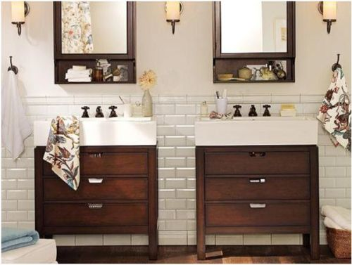tile bath vanity