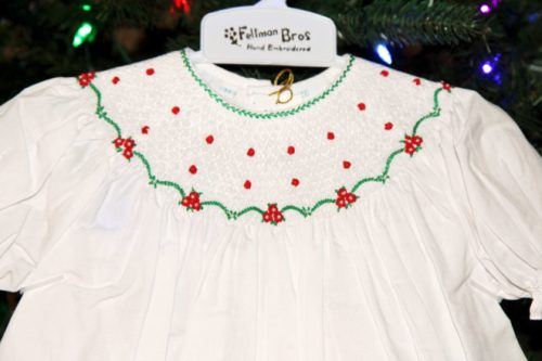55a37c57a041 I especially love the Short Sleeve Holiday Pearl Flower Bishop Dress. The  dress features hand embroidered flowers and leaves all over the dress, ...