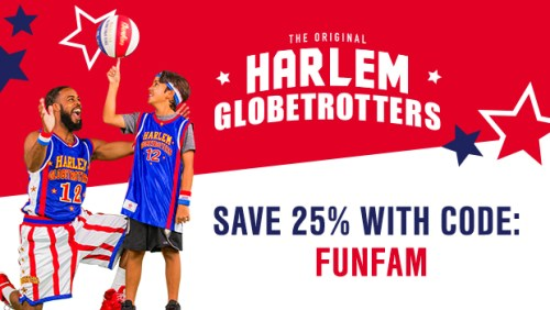 For Harlem Globetrotters we currently have 48 coupons and 1 deals. Our users can save with our coupons on average about $ Todays best offer is 25% Off Harlem Globetrotters Tickets. If you can't find a coupon or a deal for you product then sign up for alerts and you will get updates on every new coupon added for Harlem Globetrotters.
