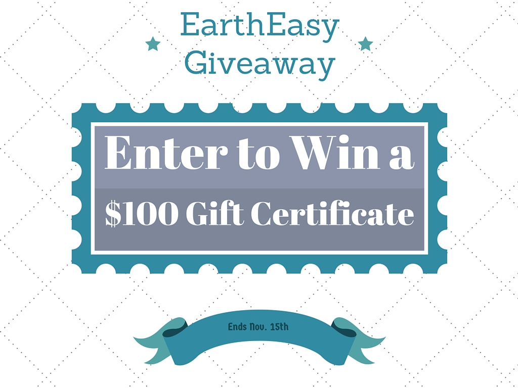 Giveaway: $100 Gift Certificate to EarthEasy #2015HGG {closed}