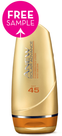 free sample avon anew solar advance sunscreen