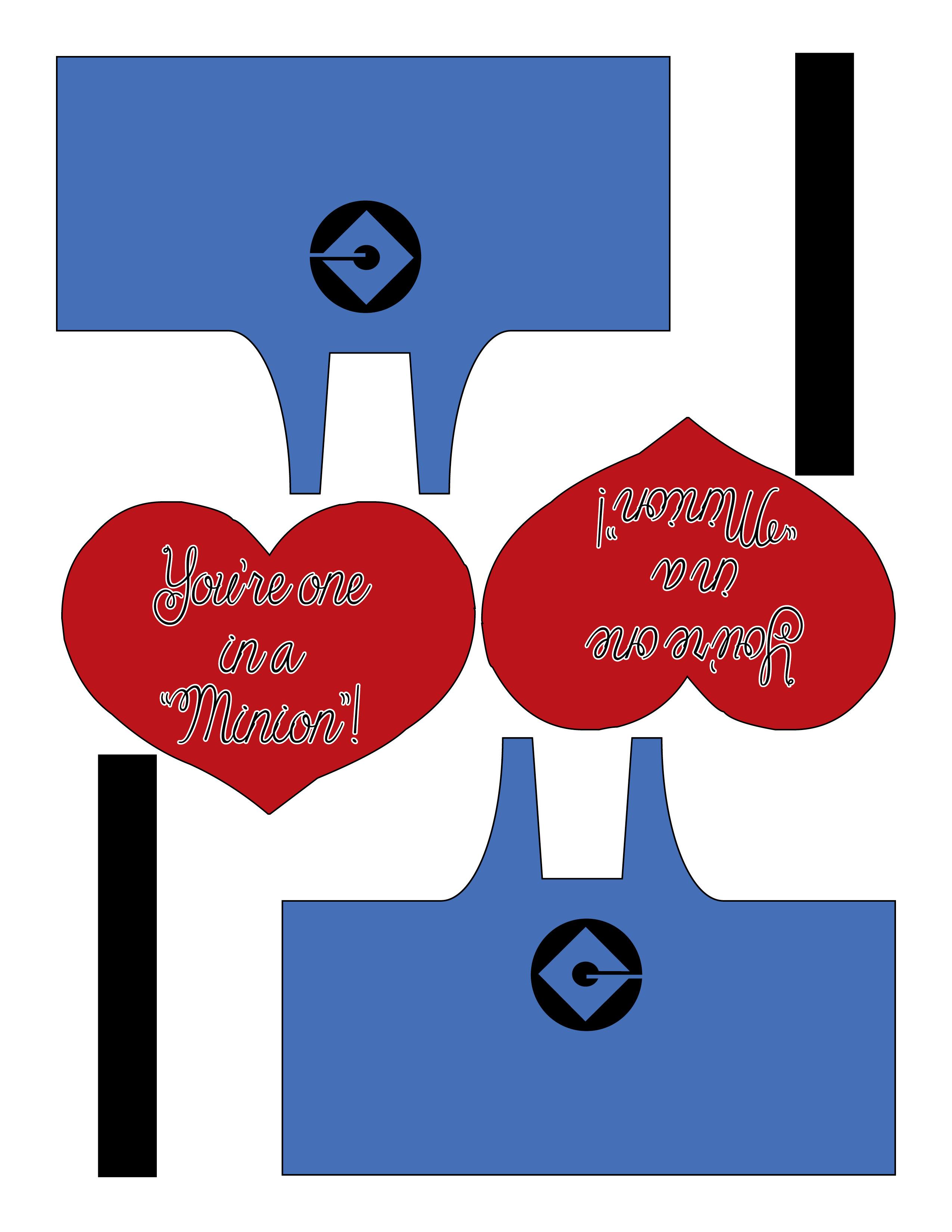 Minion Valentine Printable You Re One In A Minion