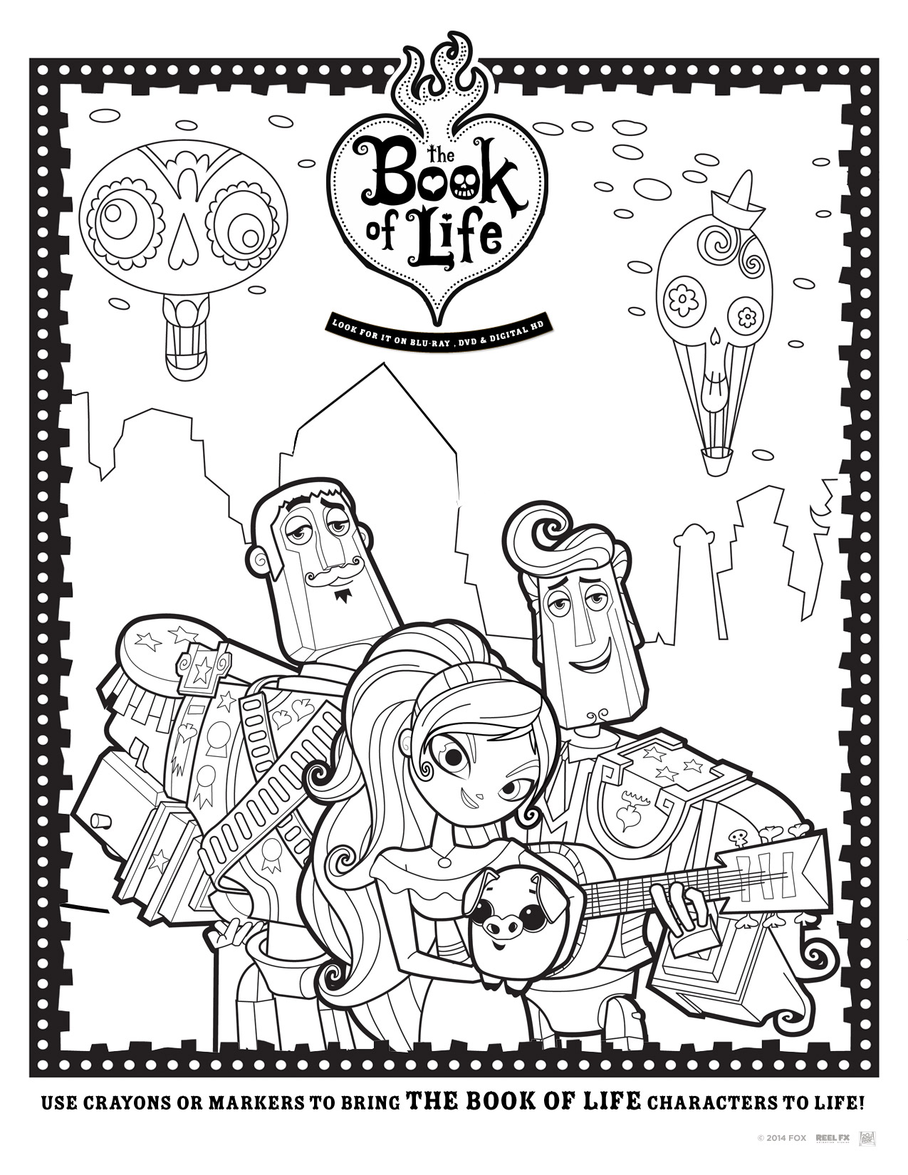 Free Book Of Life Coloring Pages And Activity Sheets Bolinsiders