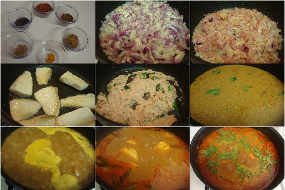 Cooking fish pulusu