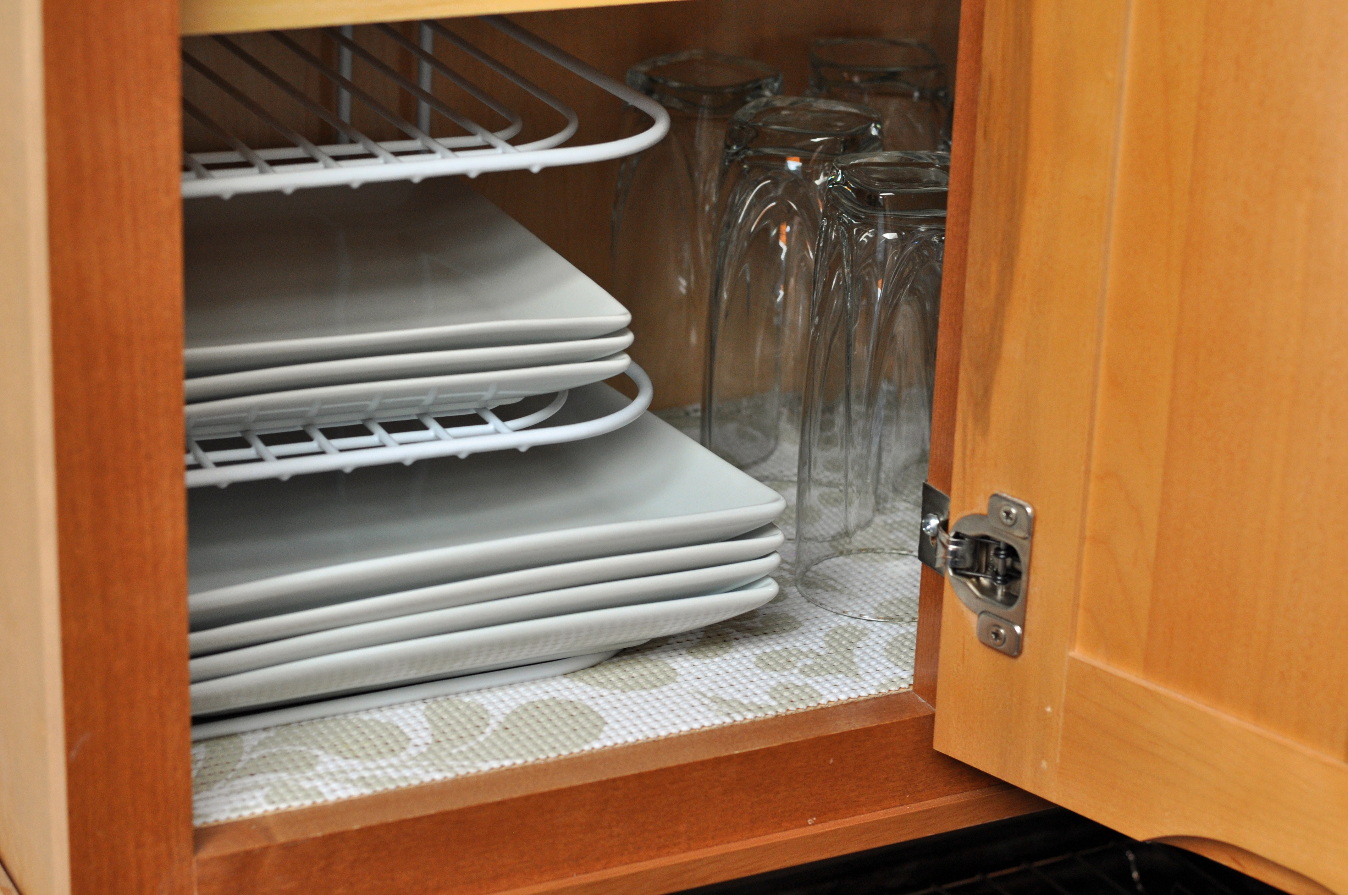 cabinets with duck brand s shelf liner