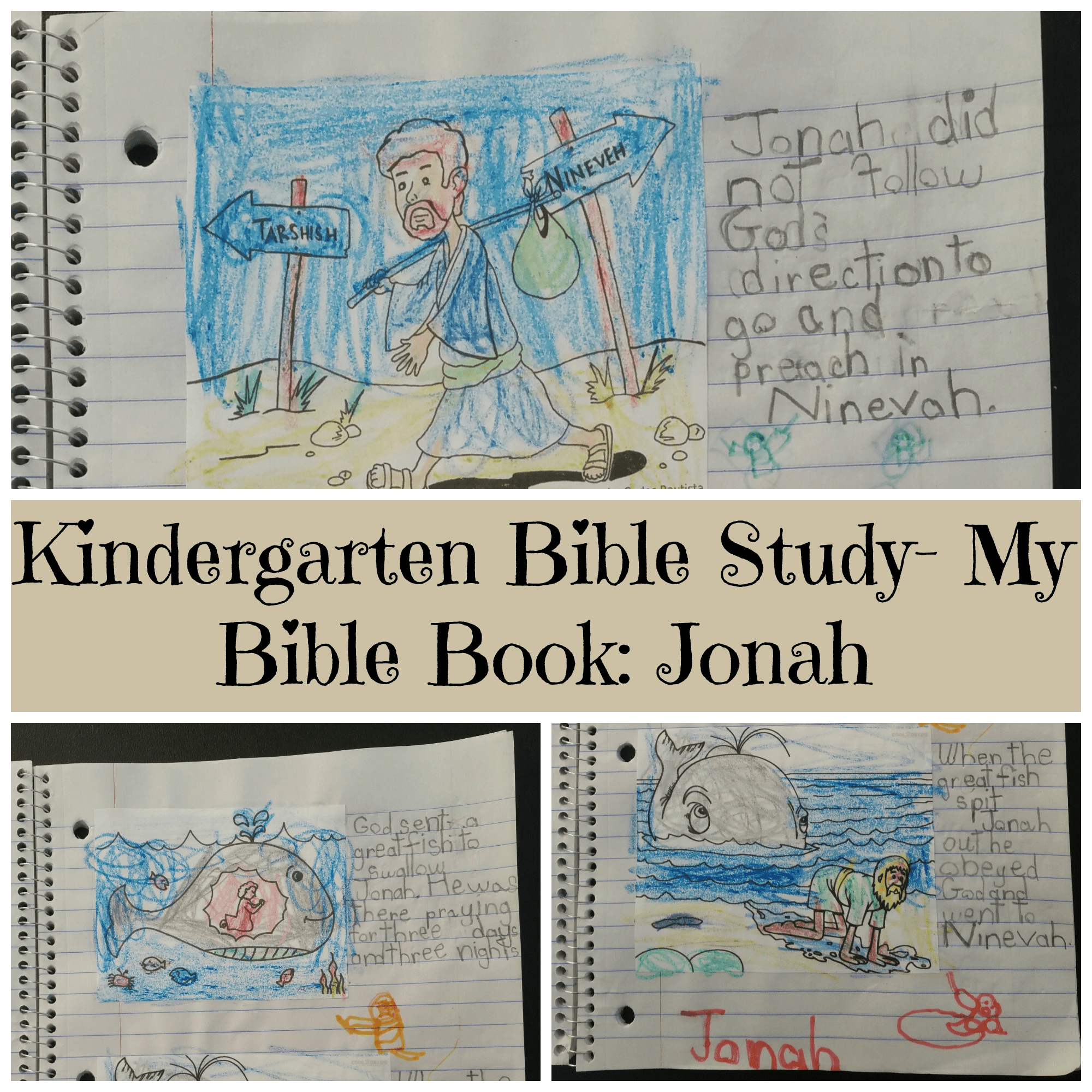 Kindergarten Bible Study- My Bible Book: Jonah