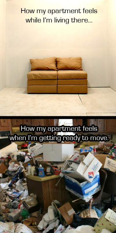 how to pack for a move in one day