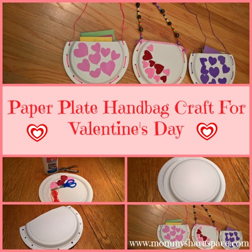 Paper Plate Handbag Craft For Valentine's Day