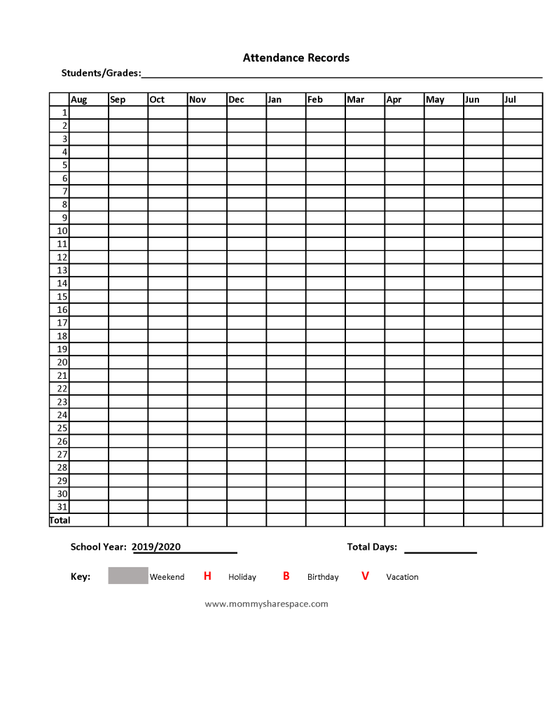 Printable Forms for Homeschool Record-Keeping (Updated ...