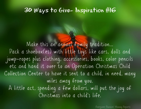 30 Ways To Give Pack A Shoebox Operation Christmas Child