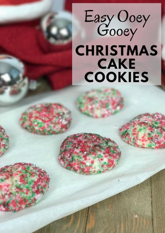 Christmas Cake Cookies #ChristmasSweets #ChristmasCookies
