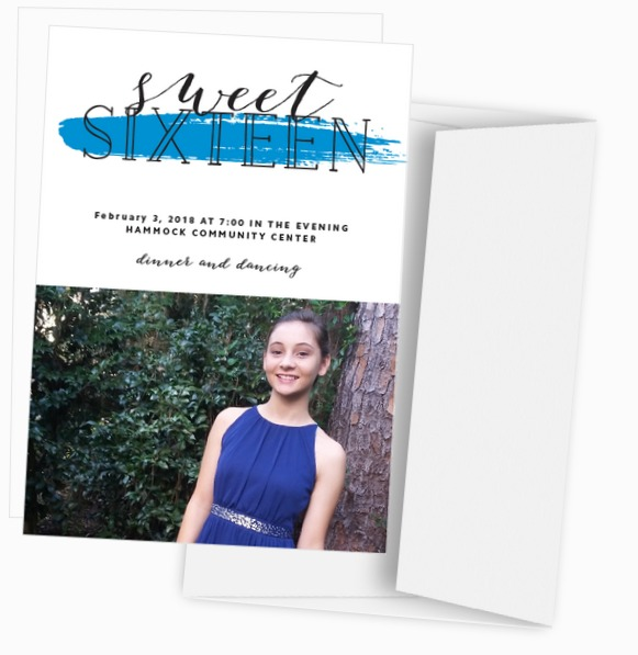 Sweet 16 Birthday Party Invitations from Basic Invite