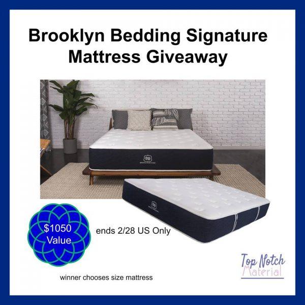 Brooklyn Signature Mattress Giveaway