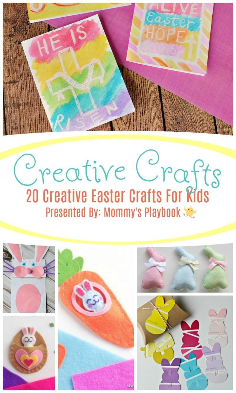 20 Creative Easter Crafts for Kids #Craft #CraftRoundup #Easter #EasterCrafts