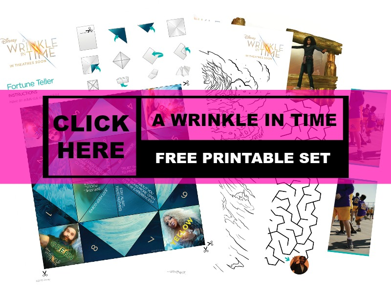 "Free Color & Activity Pages for ""A Wrinkle In Time"" Movie#Freebie #FreePrintables"