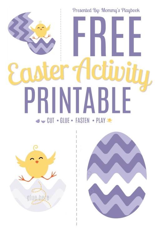 Free Chick-N-Egg Printable Easter Activity #CutandPaste #EasterEgg #EasterPrintables
