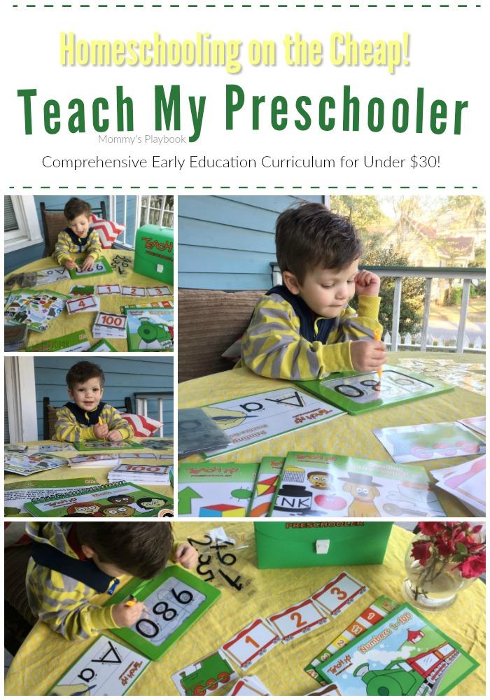 Teach My Preschooler; Inexpensive Early Education Curriculum!  #hscurriculum