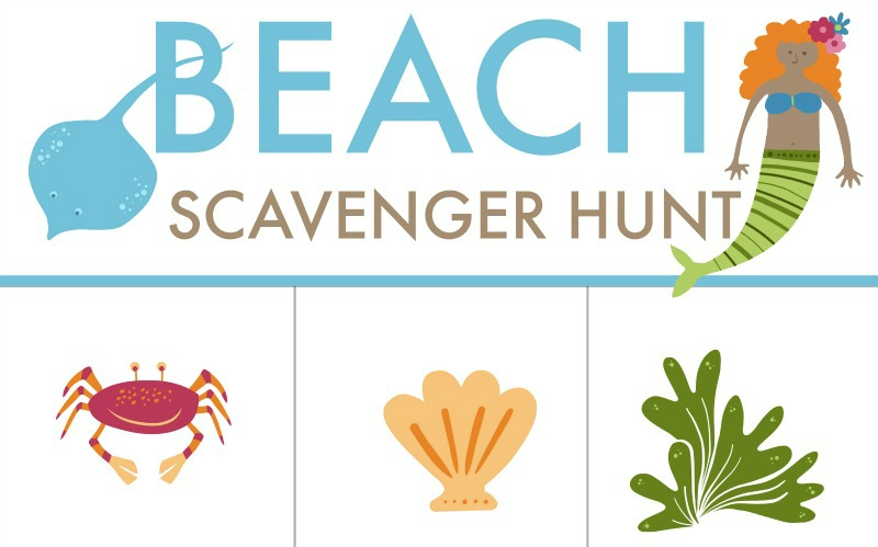 photograph relating to Printable Beach Pictures titled Absolutely free PRINTABLE: Seaside Scavenger Hunt Worksheet for Young children
