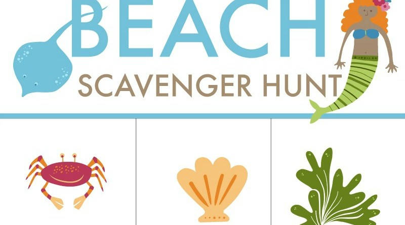 Free Printable Worksheet Scavenger Hunt for Your Next Beach Trip! Must-have for your Family's Beach Vacation! #BeachVacation