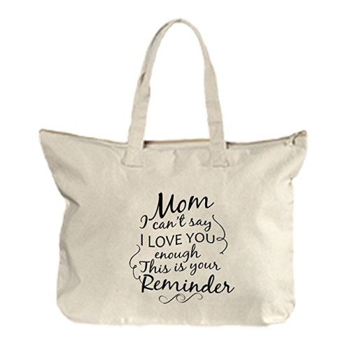 Mom's Cannot Resist a Great Tote, Purse, or Throw Pillow telling her how much YOU Love her! Find great Mother's Day Gifts at Mommy's Playbook