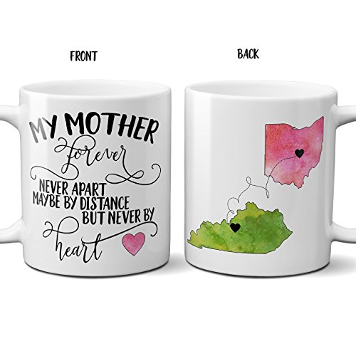 Near or Apart, State to State, Mother's Day Mug