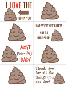 Funny Father's Day Gift Poop Emoji Toilet Paper Gift Tutorial by Mommy's Playbook #FreePrintable #PrintableGifts