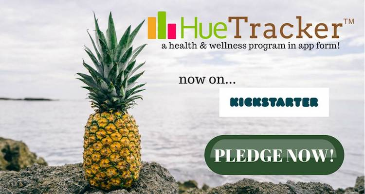 The HueTracker App is the answer to help you be the best you! It not only gives you access to medical professionals, dietitians, and personal trainers but it can track calories, water intake, macronutrients, and more. It also helps you track your colorful intake of fruits and vegetables!