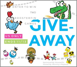 Enter to Win TWO RoosterFin games of your choice! Choose from the featured games at Mommy's Playbook! #EntertoWin #RoosterFinGames
