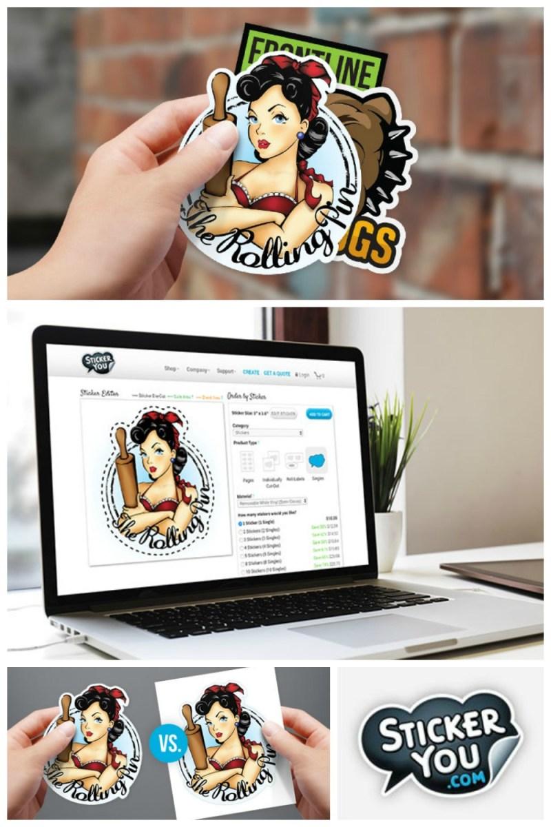 Custom StickerYou Die Cut Stickers! Use the StickerYou Editor to Make Custom Die-Cut Sticker Singles! #StickerYou