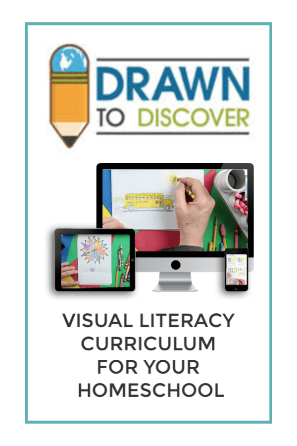 Drawn to Discover, Visual Literacy Curriculum for Your Homeschool #DrawntoDiscover