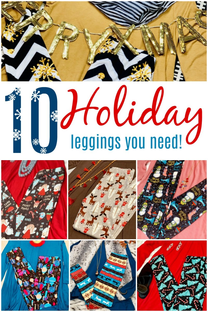 10 Christmas Leggings You Can't Live without! #DreamLeggings #ChristmasforHer