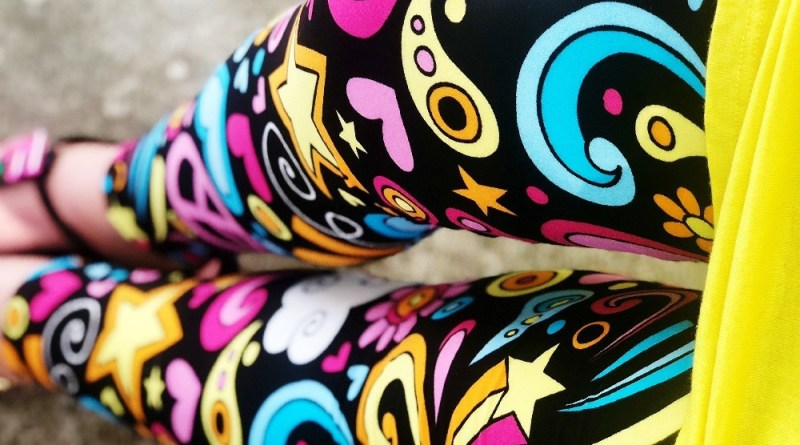 Peace Love Rainbows Leggings from DreamLeggings.com #BuyAlltheLeggings #DreamLeggings