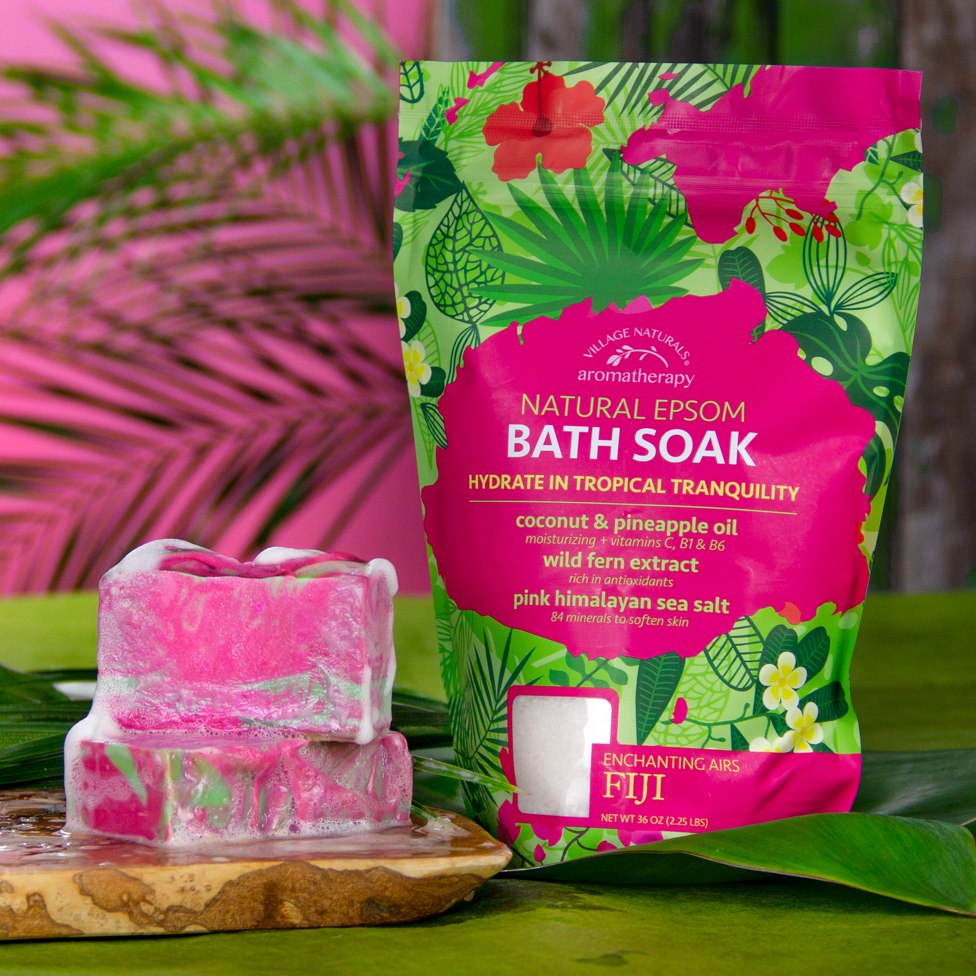 Village Naturals Aromatherapy Fiji Bath Soak #VillageNaturals #Aromatherapy