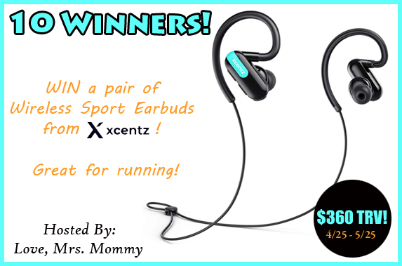 Enter to Win the Xcentz Earbuds Giveaway at Mommy's Playbook! #Xcentz