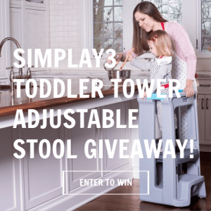 Simplay3 Toddler Tower Adjustable Stool #simplay3 #Americanmade #Veteranowned #toysthatlast #simpleplay