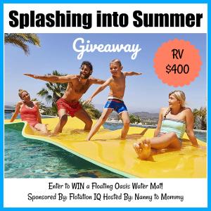Enter to Win the FloatationIQ Giveaway at Mommy's Playbook! #LakePad #Swimming #SummerFun #FloatationIQ