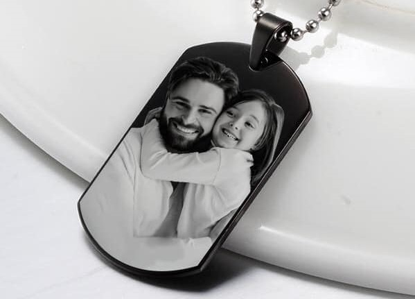 PicturesonGold.com #PhotoEngraved #Jewelry #FathersDay #Gift