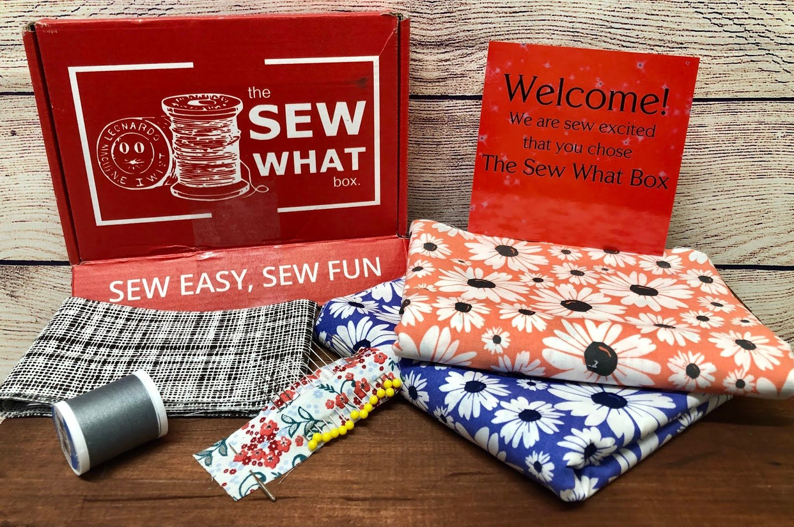 Sew What Box Monthly Subsciption Box from TaylarMade Tailoring #SewWhatBox #BTS2019
