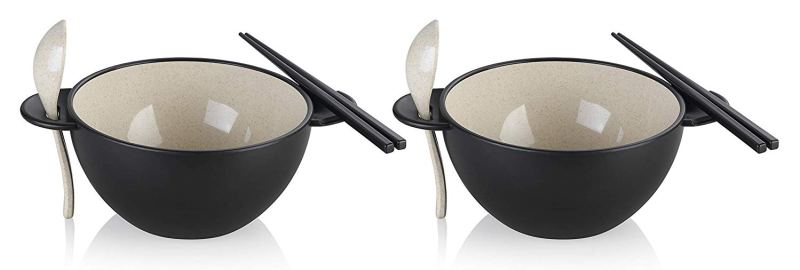 Ozeri Earth Ramen Bowl 6-Piece Set, 100% Made from a Plant